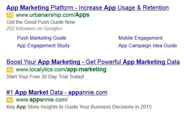 cụm từ hiển thị trên quảng cáo