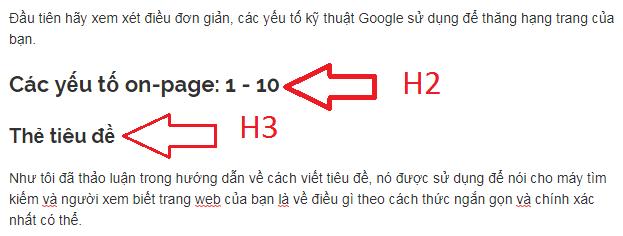 thẻ h2 và h3