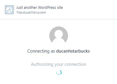 thực hiện kết nối với wordpress.com