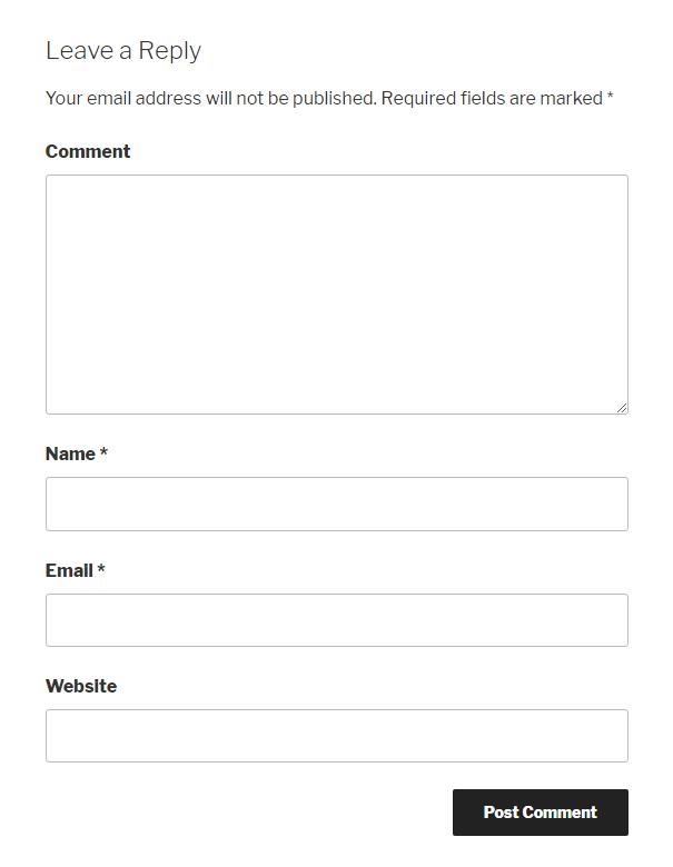 khung trả lời bình luận của wordpress