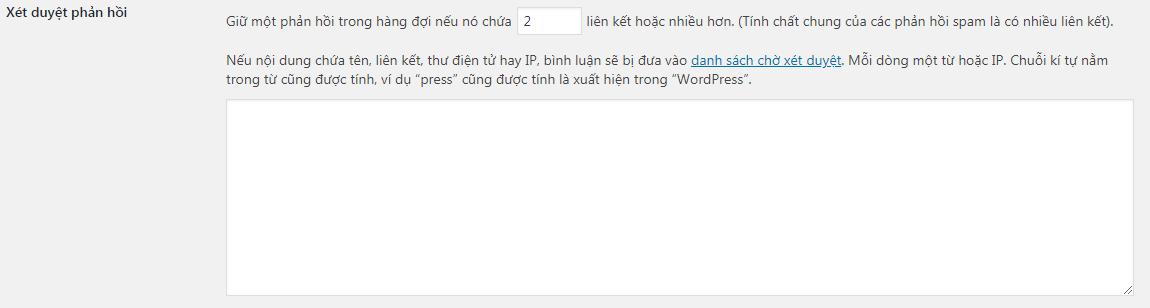 Xét duyệt phản hồi - tiếng Việt