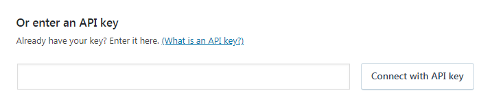 nhập api key