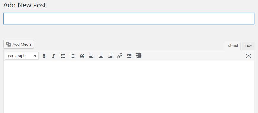 giao diện viết bài wordpress