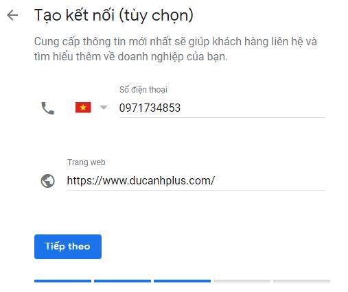 điện thoại và website