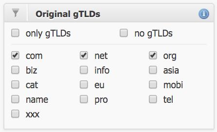 lọc chọn các tên miền hết hạn