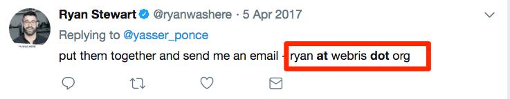 tìm được địa chỉ email của CEO