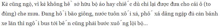 hiển thị lỗi tiếng Việt