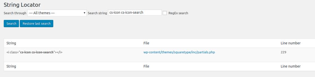 tìm kiếm chuỗi văn bản bằng String Locator