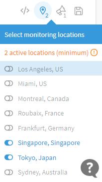 chọn location của máy chủ kiểm tra uptime